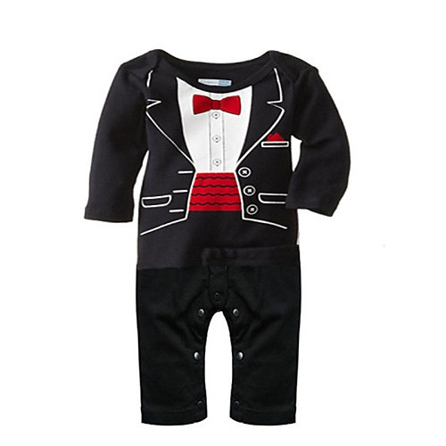 New Baby Boys Romper Newborn Gentleman Tie Suits Spring Autumn Infant Toddler Jumpsuit