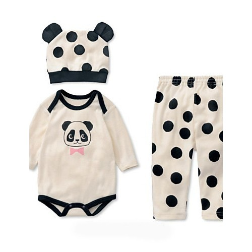3Pcs Newborn Baby Girl Boy Clothes Set Spring Autumn Fashion Toddler Infant Long Sleeve Clothing Rompers