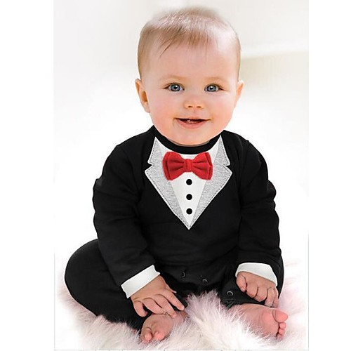 3-24M Infant Baby Gentleman Clothes Rompers Cotton Spring Autumn Long Sleeve Newborn Toddler Jumpsuit